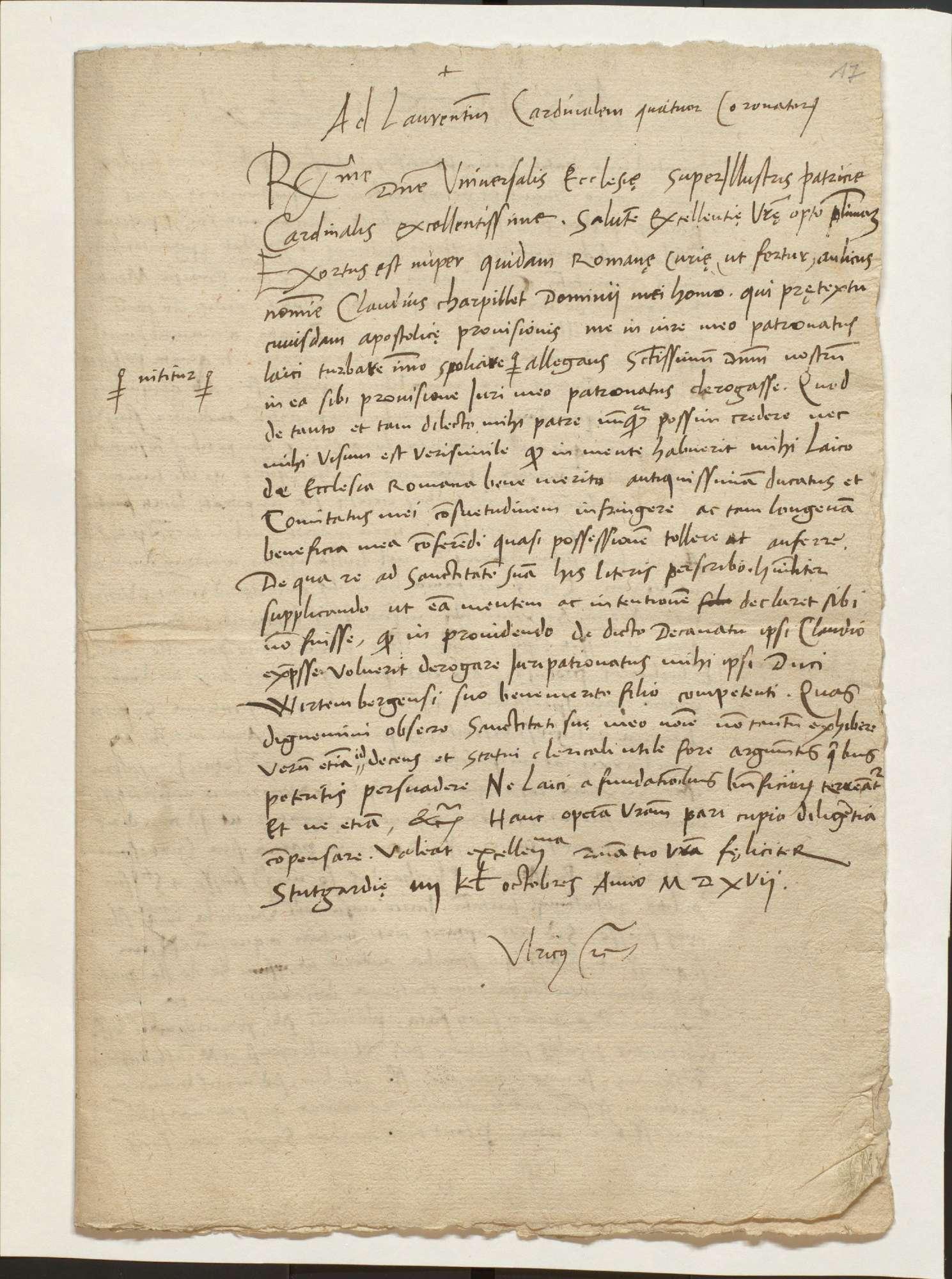 Auseinandersetzung mit Dietrich Späth, Auseinandersetzung um Patronatsrechte mit Papst Leo X, Bild 2