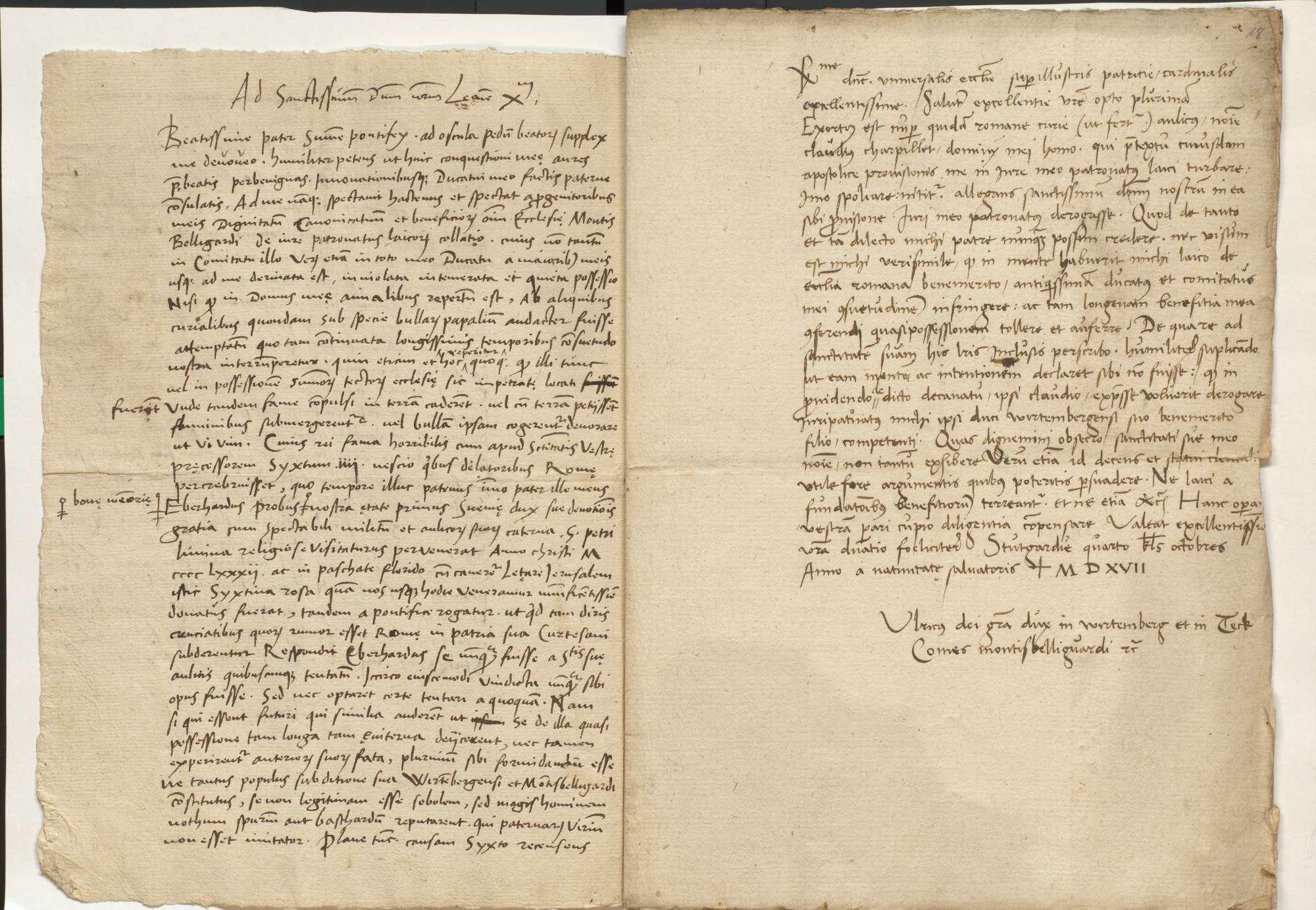 Auseinandersetzung mit Dietrich Späth, Auseinandersetzung um Patronatsrechte mit Papst Leo X, Bild 3