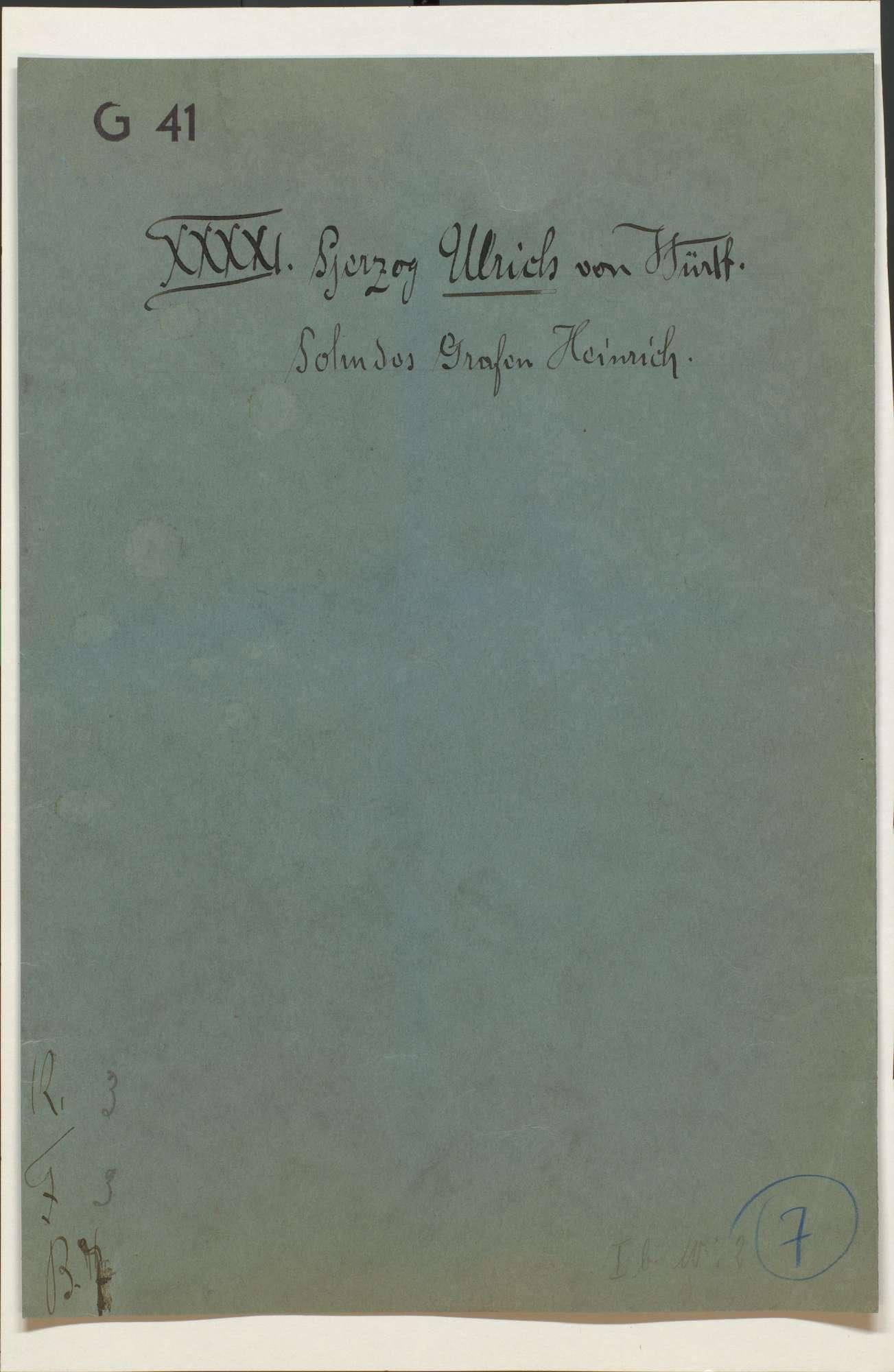 Akten, betr. die vom Schwäbischen Bund bei der Stadt Ulm hinterlegten württembergischen Kleinodien und deren Rückgabe, Bild 1
