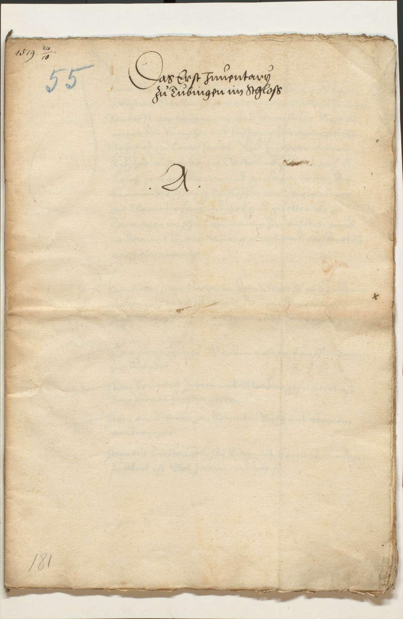 Akten, betr. die vom Schwäbischen Bund bei der Stadt Ulm hinterlegten württembergischen Kleinodien und deren Rückgabe, Bild 2