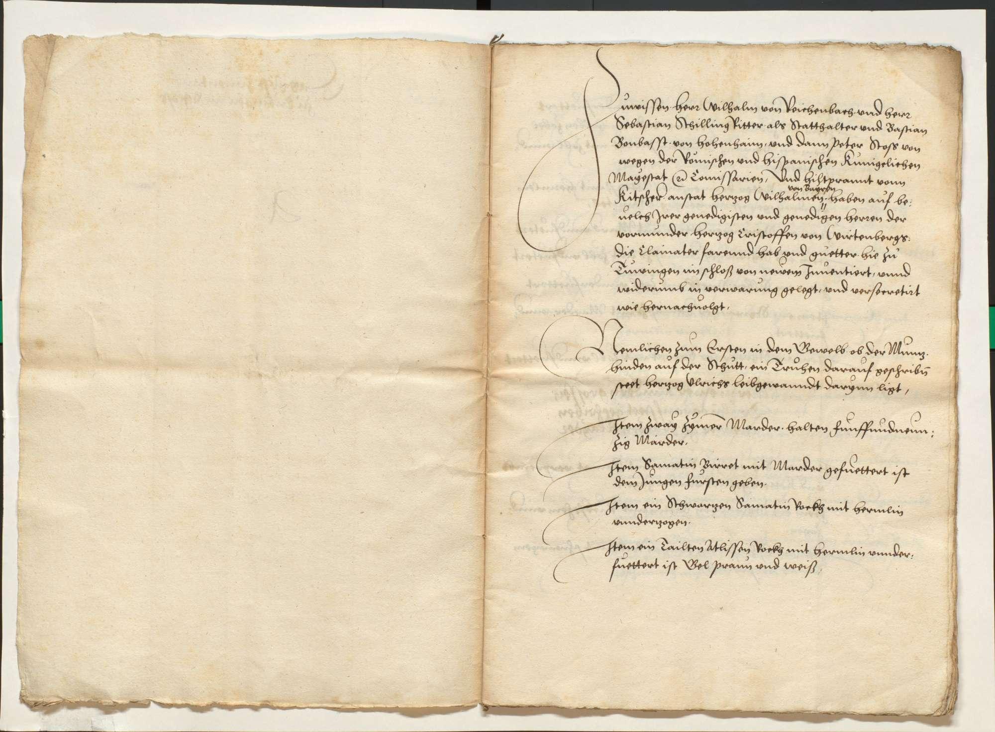 Akten, betr. die vom Schwäbischen Bund bei der Stadt Ulm hinterlegten württembergischen Kleinodien und deren Rückgabe, Bild 3