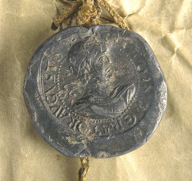 Kaiser Otto III. bestätigt dem Stift Buchau alle seine urkundlich erworbenen Besitzungen in ganzem Umfang., Bild 3