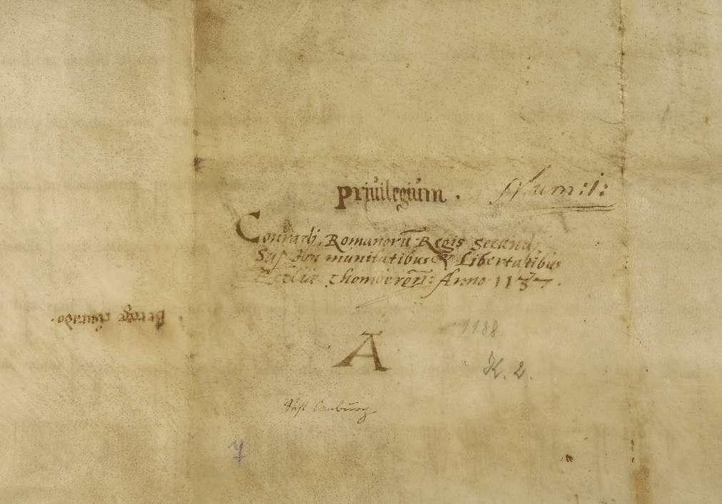 König Konrad III. nimmt die Güter der Kirche zu Comburg in seinen Schutz und entzieht dieselben der Amtsgewalt der Grafen und ihrer Stellvertreter., Bild 2