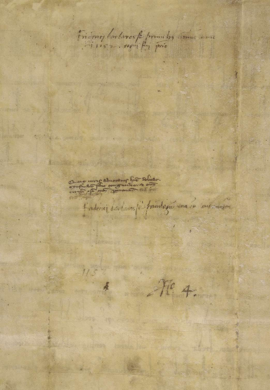"""König Friedrich I. nimmt die Abtei Ellwangen in seinen Schutz, bestätigt ihre Immunität und ihren Besitz, insbesondere des Waldes """"Virgunda"""" innerhalb genannter Grenzen., Bild 2"""