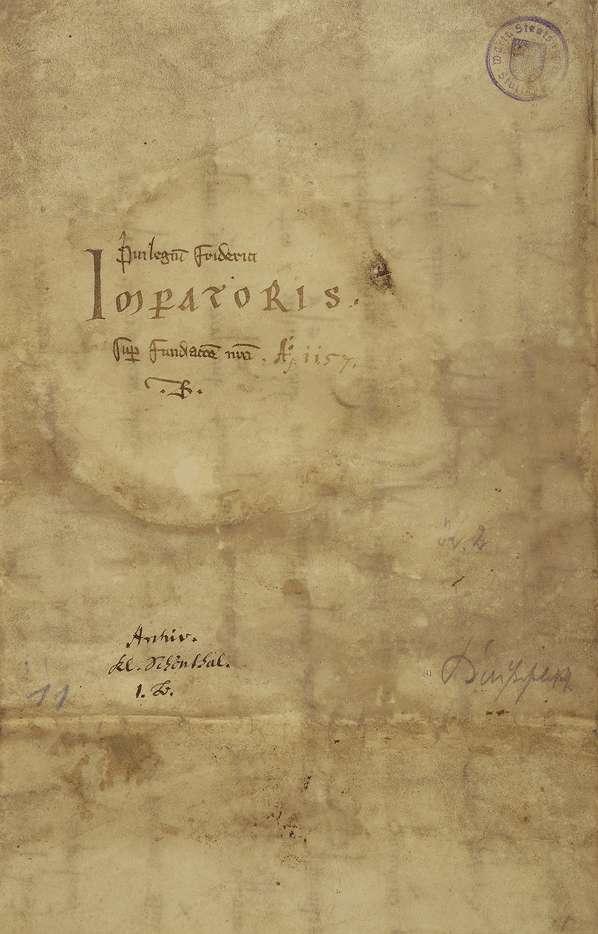 Kaiser Friedrich (I.) nimmt das von Wolfram von Bebenburg gestiftete Kloster in Neusaß samt dessen Güter in seinen Schutz und bestätigt dessen genauer bestimmte Zehntfreiheit., Bild 2