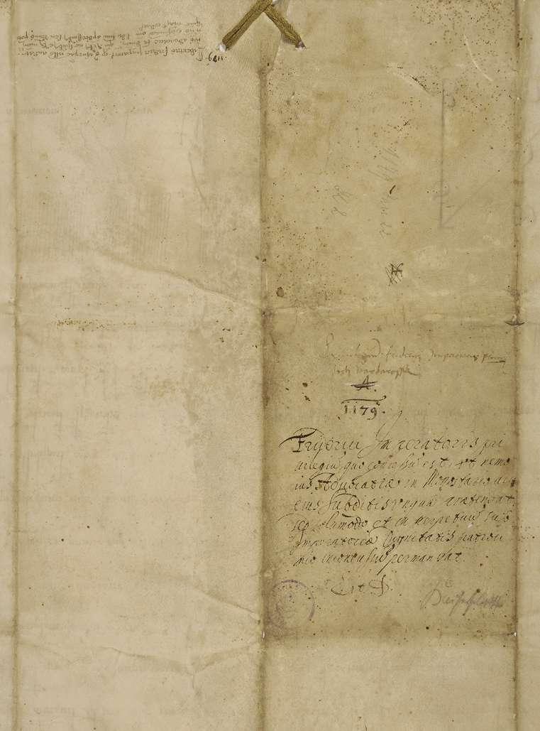 Kaiser Friederich (I.) bestätigt dem Kloster Rot seine seit Gründung bestehende Freiheit von jeder Vogteigewalt und die Unterstellung unter kaiserlichen Schutz., Bild 2