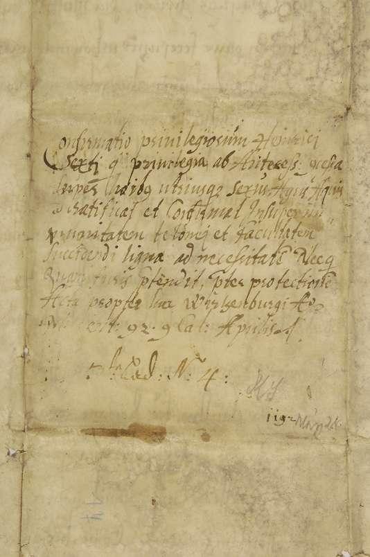 Kaiser Heinrich VI. bestätigt dem Kloster Weißenau die Begünstigungen, die ihm von seinem Vater Kaiser Friedrich, seinem Bruder Herzog Friedrich von Schwaben, Herzog Welf und von Heinrich, vormals Herzog von Sachsen, erteilt wurden., Bild 2