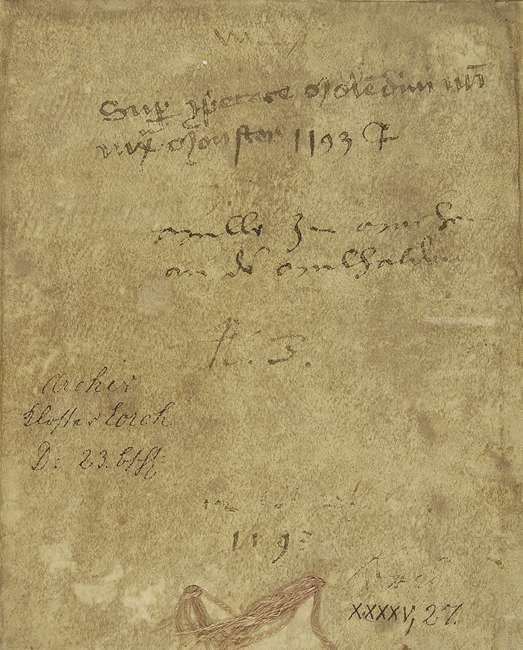 Kaiser Heinrich VI. bestätigt die Verleihung einer Mühle des Klosters Lorch an Dietrich von Stammheim gegen einen jährlichen Zins auf dessen Lebenszeit., Bild 2