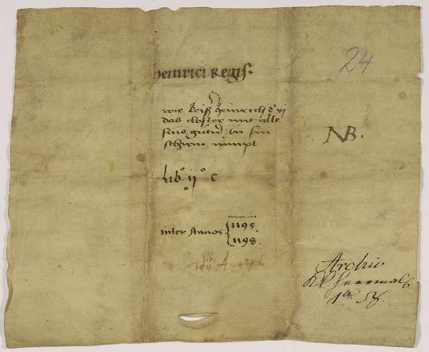 Kaiser Heinrich VI. nimmt das Kloster Herrenalb mit allen dessen Angehörigen und rechtmäßigen Besitzungen in seinen Schutz., Bild 2
