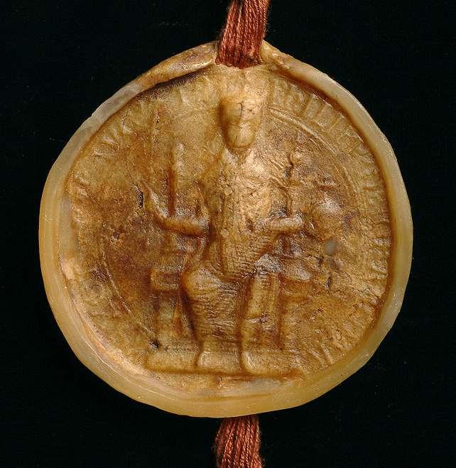 König Philipp bestätigt die Zurückgabe des von Ulrich von Iptingen zuerst dem Kloster Maulbronn geschenkten, später aber dem Pfalzgrafen von Tübingen verkauften Eigenguts in Iptingen durch den letzteren an das Kloster., Bild 3