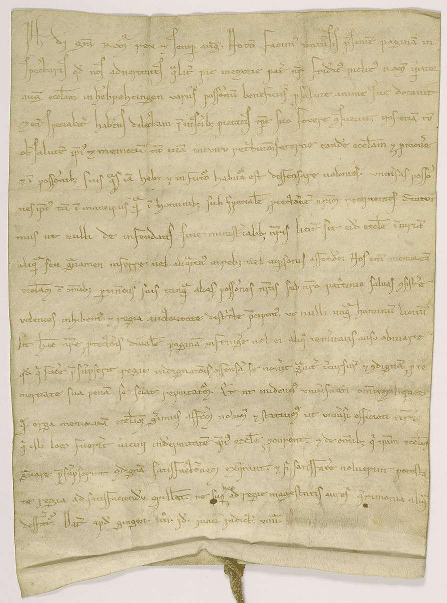 König Philipp nimmt das Stift Herbrechtingen in seinen besonderen Schutz., Bild 1