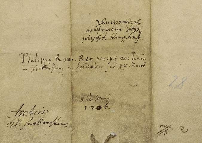 König Philipp nimmt das Stift Herbrechtingen in seinen besonderen Schutz., Bild 2
