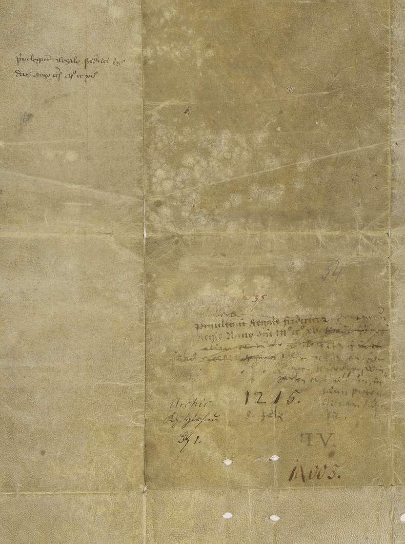 König Friedrich II. übernimmt die Vogtei des Klosters Hirsau an mehreren in der Urkunde genannten Orten., Bild 2