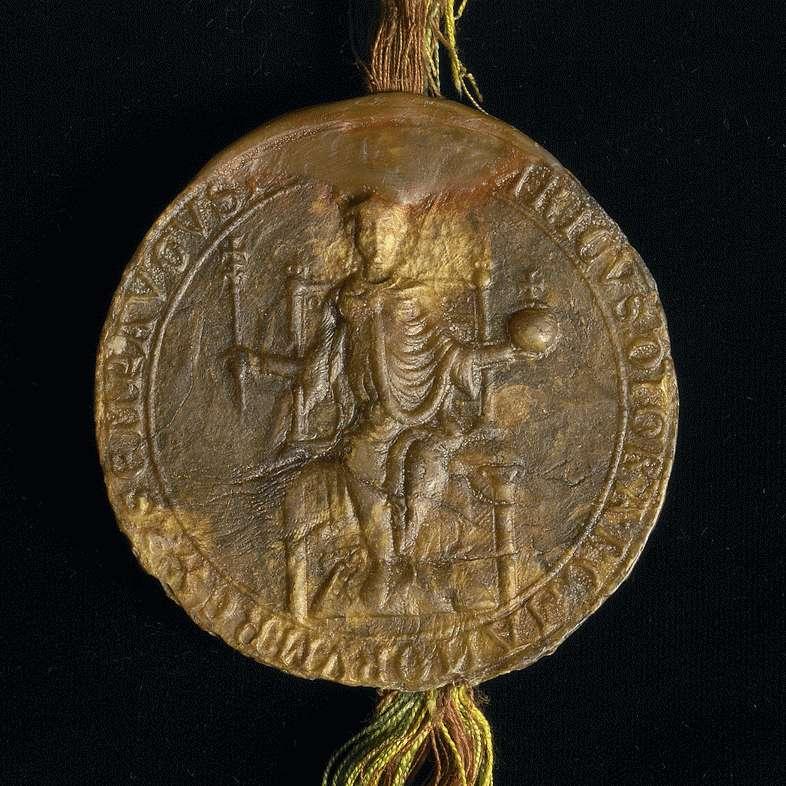 König Heinrich VII. befreit das Kloster Schöntal von allen ihm und seinen Beamten schuldigen Diensten und Abgaben mit Ausnahme der Verpflichtung, seine durchreisenden Boten zu beherbergen., Bild 2