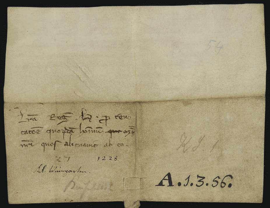König Heinrich (VII.) widerruft die von ihm gegen bestehende ausdrücklich verbriefte Rechte geschehene Überlassung einiger Eigenleute des Klosters Weingarten an Konrad von Schmalegg., Bild 2
