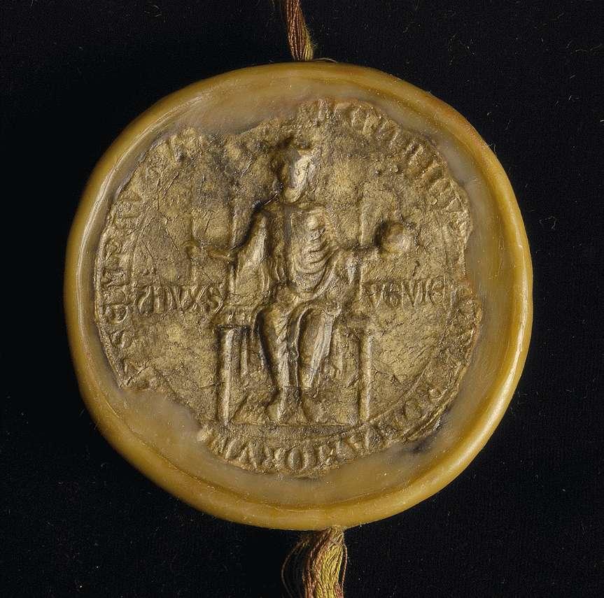 König Heinrich (VII.) verleiht dem Propst und dem Konvent in Denkendorf das Eigentum einer Salzpfanne in seiner Stadt Hall frei von allen öffentlichen Abgaben., Bild 2