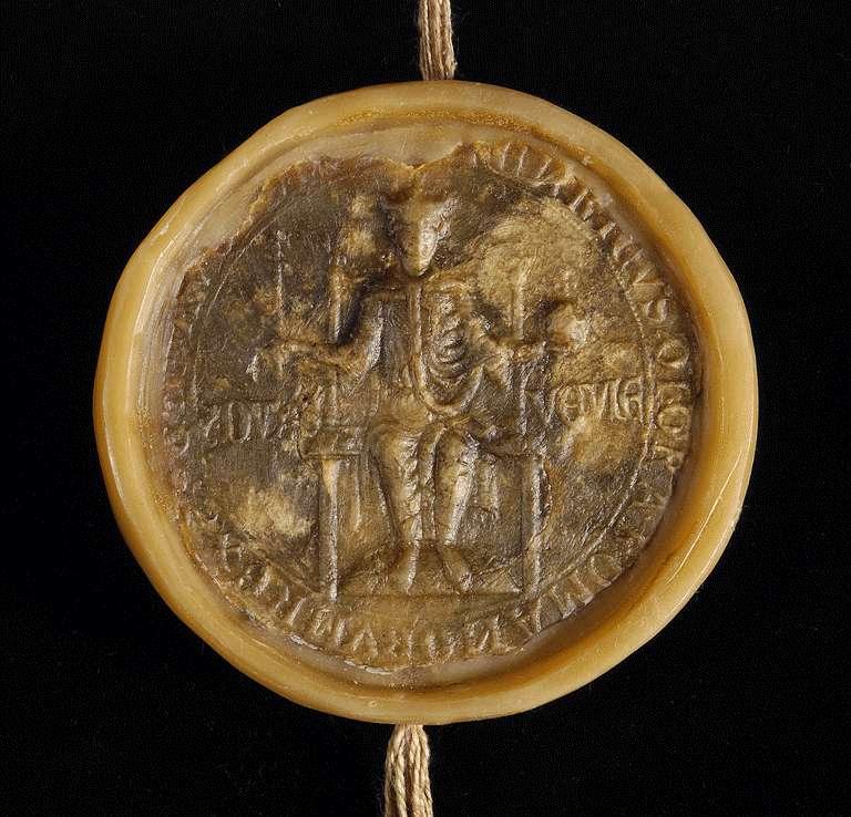 König Heinrich (VII.) befreit die Güter, welche das Kloster Bebenhausen in Esslingen besitzt oder besitzen wird, von allen Abgaben und verbietet seinen dortigen Dienstleuten und Bürgern, dieselben damit zu beschweren., Bild 3