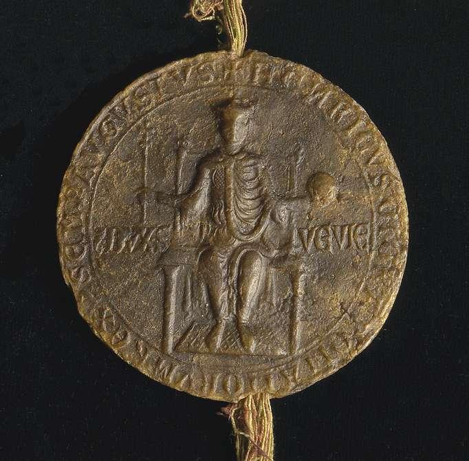 König Heinrich (VII.) überlässt dem Propst und Konvent in Adelberg einen mansus in Heilbronn gegen jährliche Zinszahlungen in Höhe von einer Mark., Bild 2