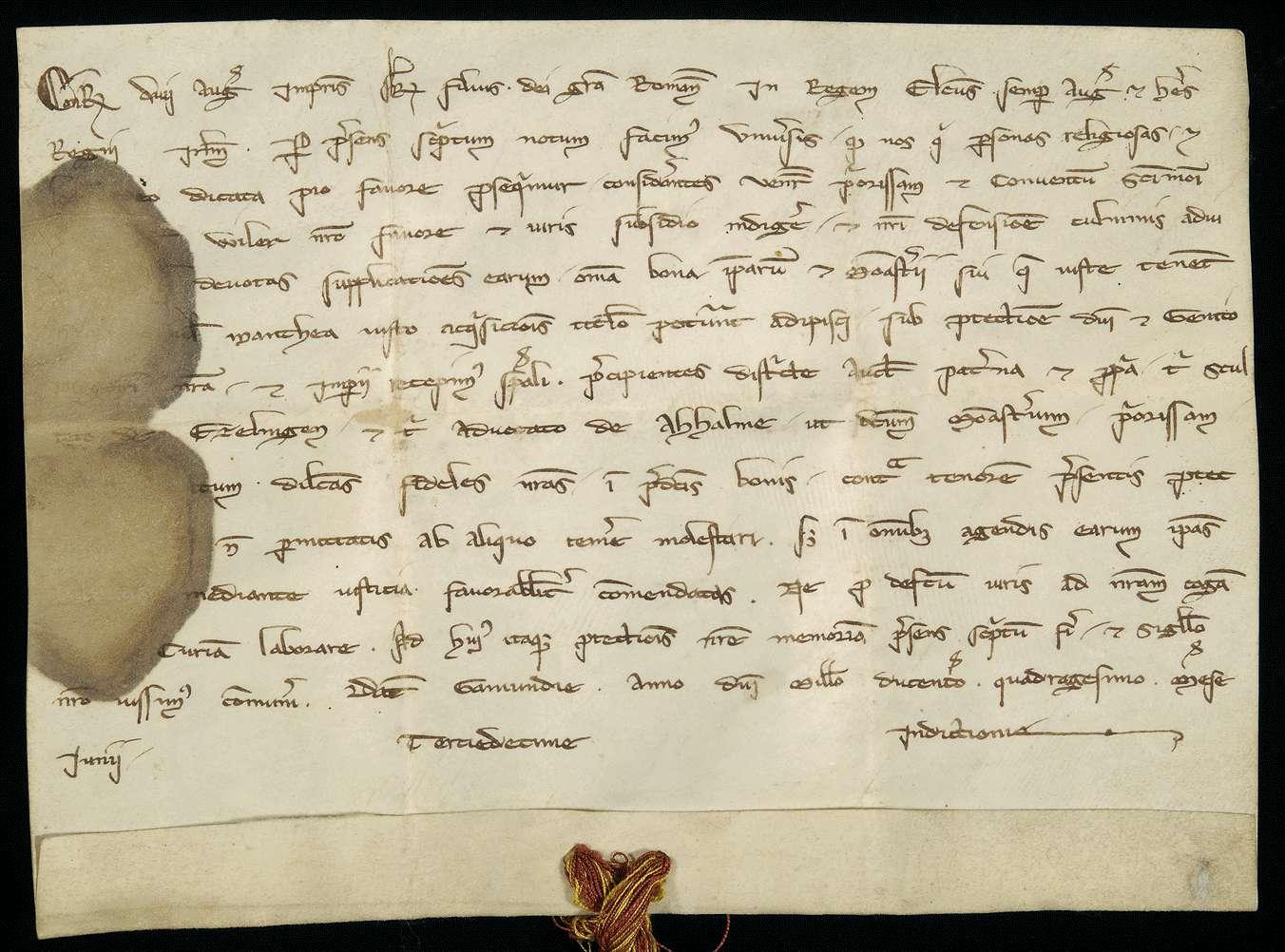Der erwählte römische König Konrad (IV.) nimmt die Priorin und den Konvent der Nonnen zu Weil in seinen und des Reiches Schutz und beauftragt den Schultheißen von Esslingen und den Vogt von Achalm damit., Bild 1