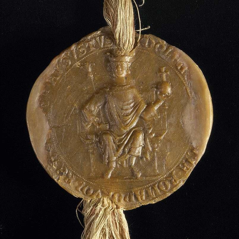 König Rudolf bestätigt und erneuert dem Kloster Bebenhausen das in der Urkunde inserierte Privilegium Kaiser Friedrichs II. von 1232 April., Bild 3
