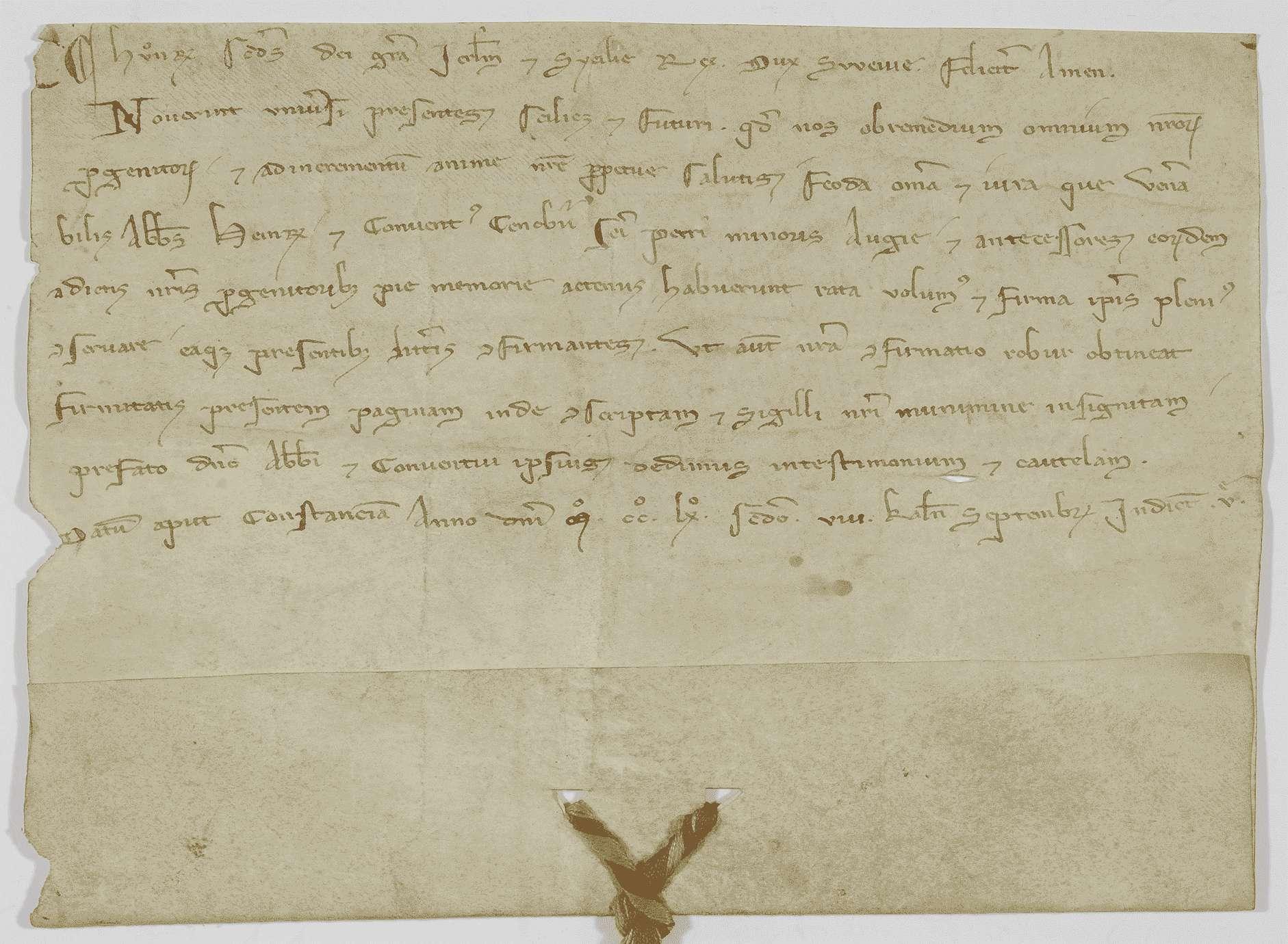 König Konradin von Jerusalem und Sizilien, Herzog von Schwaben, bestätigt dem Kloster Weißenau alle demselben von seinen Vorfahren verliehenen Rechte., Bild 1
