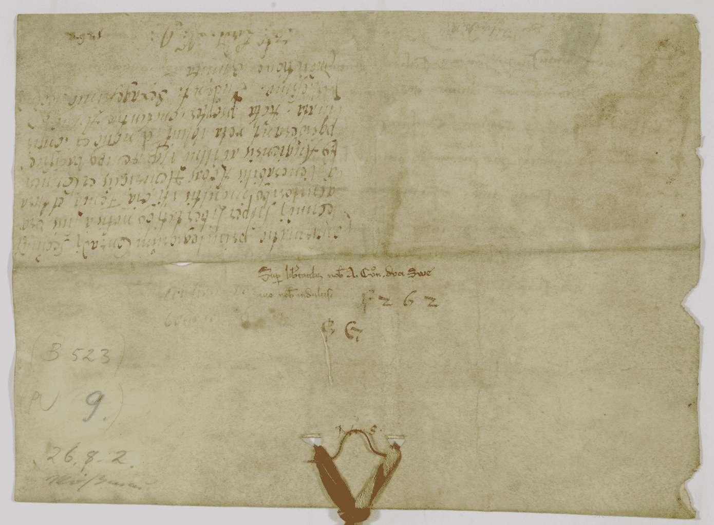 König Konradin von Jerusalem und Sizilien, Herzog von Schwaben, bestätigt dem Kloster Weißenau alle demselben von seinen Vorfahren verliehenen Rechte., Bild 2