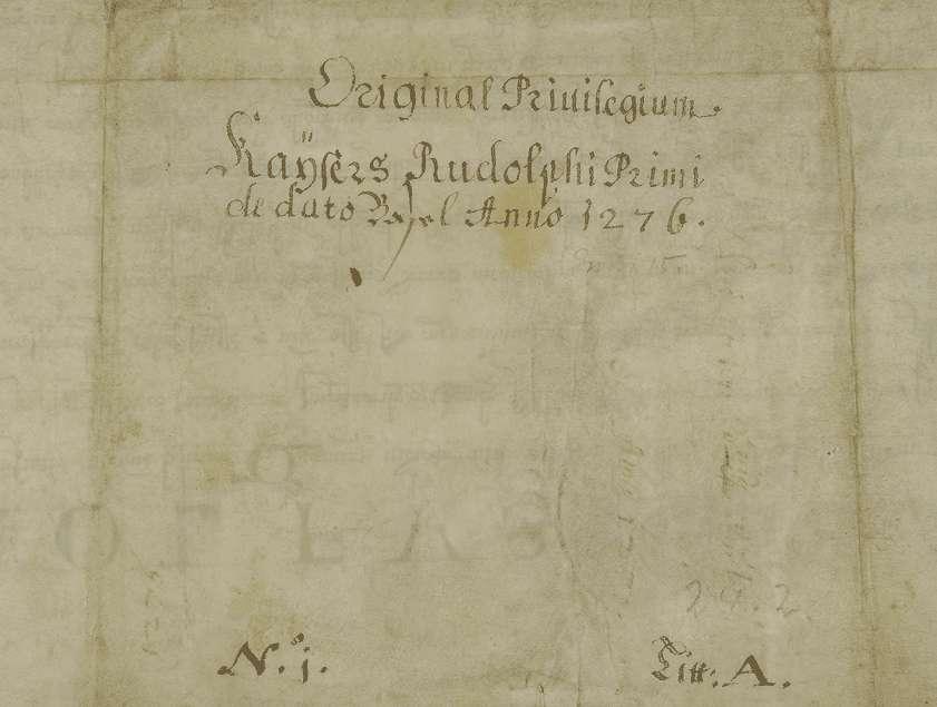 König Rudolf erteilt der Stadt Ravensburg verschiedene Rechte und Freiheiten., Bild 2