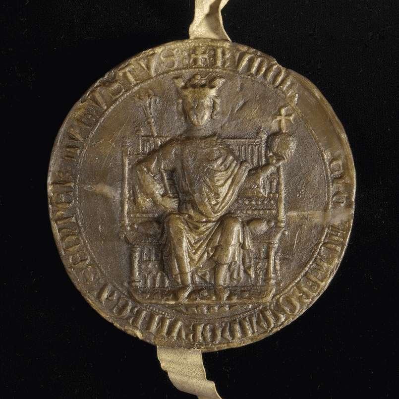 König Rudolf nimmt das König Rudolf nimmt das Heiliggeistspital zu Gmünd in seinen Schutz., Bild 3