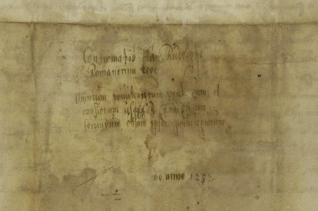 König Rudolf bestätigt der Stadt Biberach die ihr von seinen Vorgängern verliehenen Privilegien., Bild 2