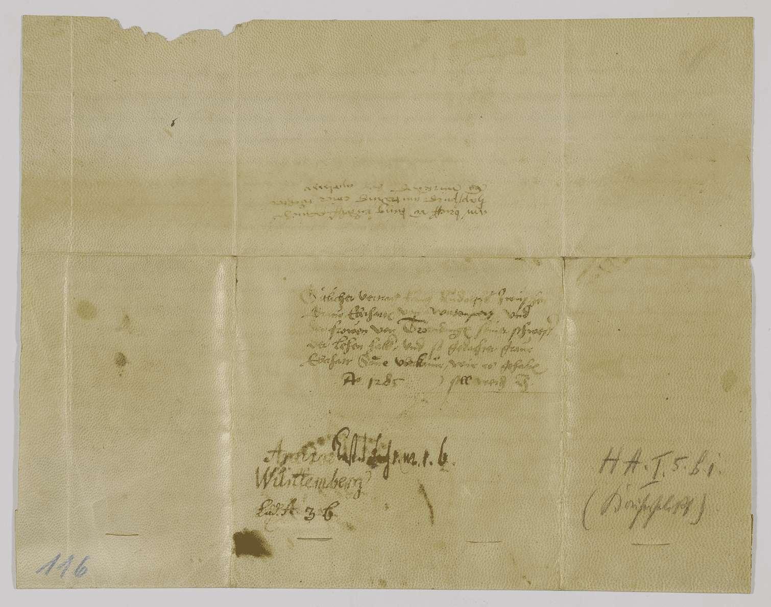 König Rudolf schlichtet den Streit zwischen Graf Eberhard von Württemberg und dessen Schwester, der Frau von Truhendingen., Bild 2
