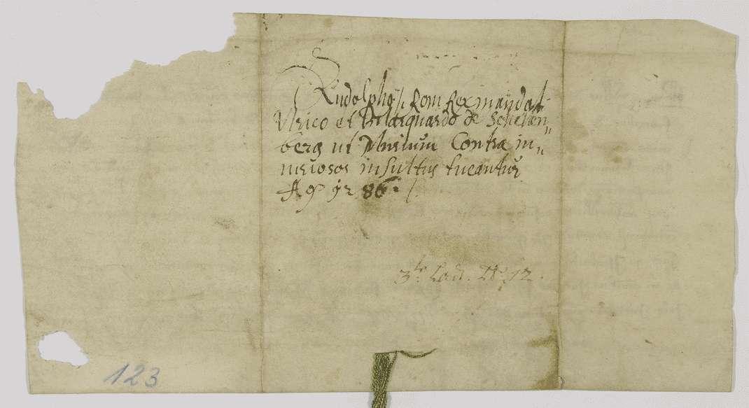 König Rudolf gebietet den Brüdern Ulrich und Marquard von Schellenberg, das Kloster Weißenau in seinen Besitzungen in Eisenbach und Amtzell zu schützen., Bild 2