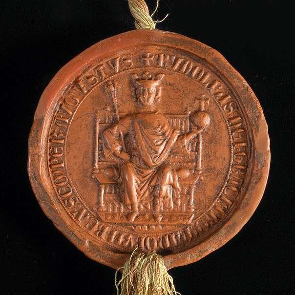 König Rudolf vidimiert und bestätigt das Privileg Kaiser Friedrichs II. für Weißenau von 1218 Dezember 11, das ihm von dem Abt des Klosters selbst vorgelegt worden ist., Bild 3