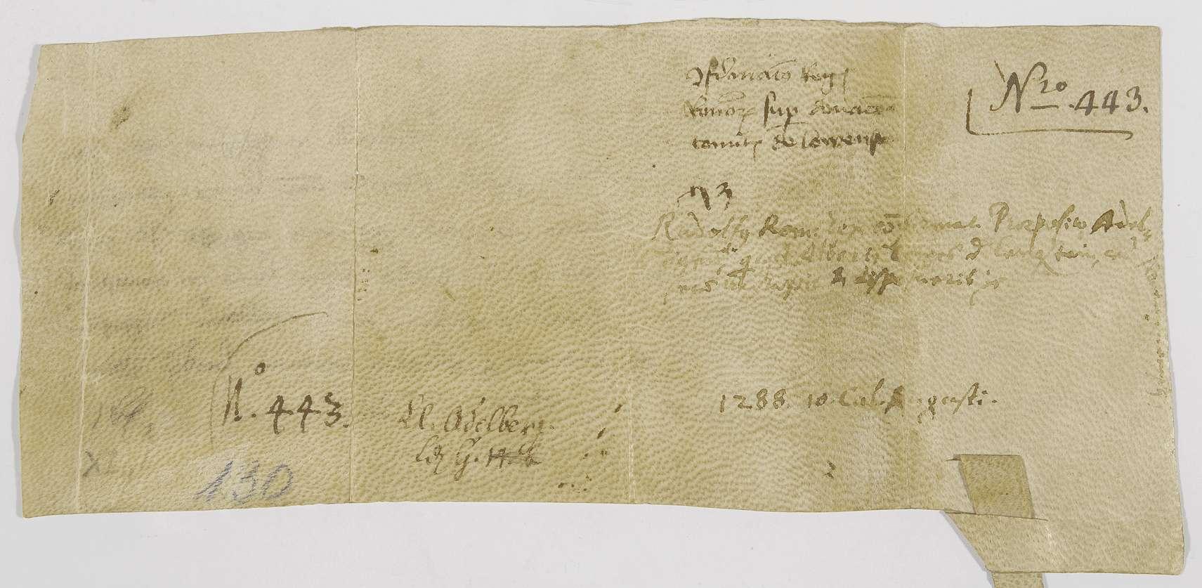 König Rudolf bestätigt die Abmachungen zwischen dem Propst von Adelberg und dem Grafen Albrecht von Löwenstein betreffend die Vogtei über Güter des Klosters Adelberg., Bild 2