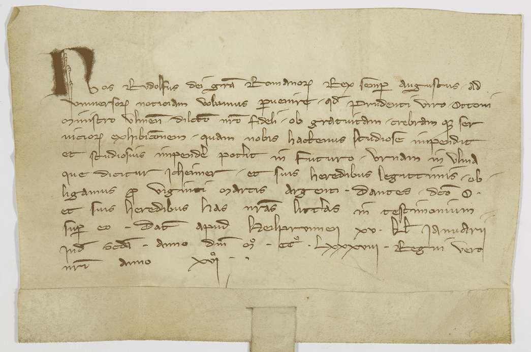 König Rudolf verpfändet dem Ammann Otto von Ulm den dortigen Eicheimer., Bild 1
