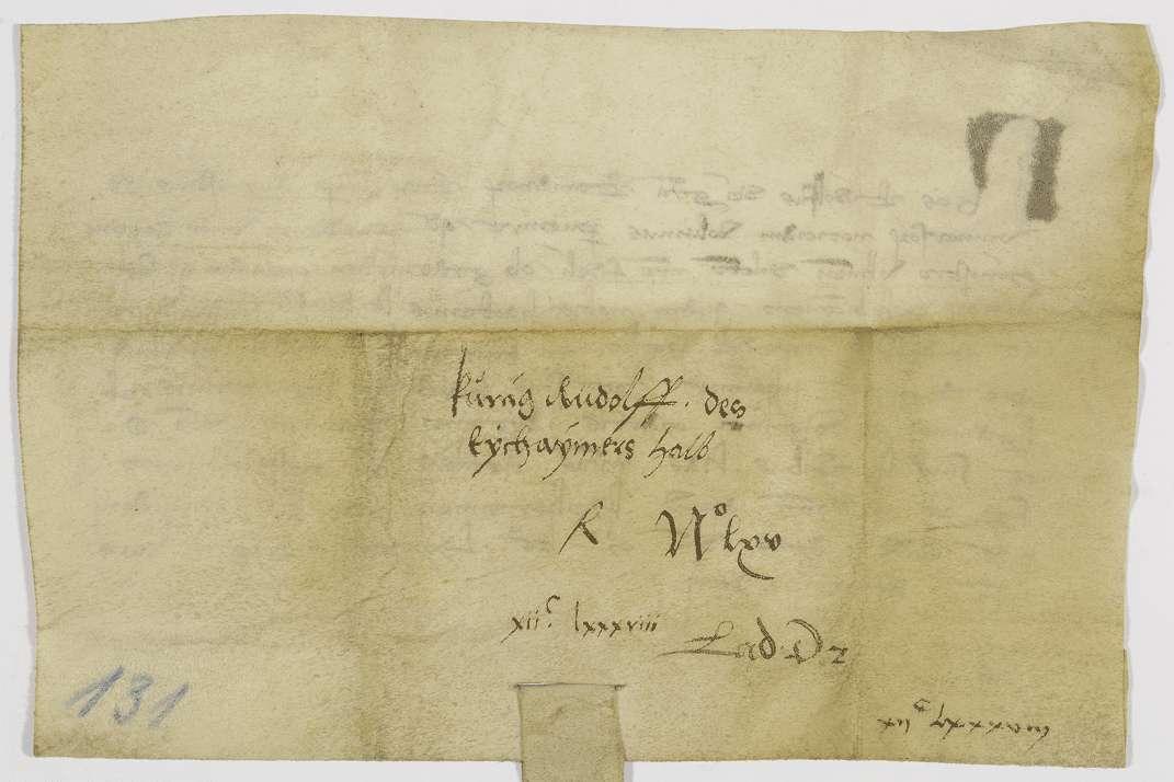 König Rudolf verpfändet dem Ammann Otto von Ulm den dortigen Eicheimer., Bild 2