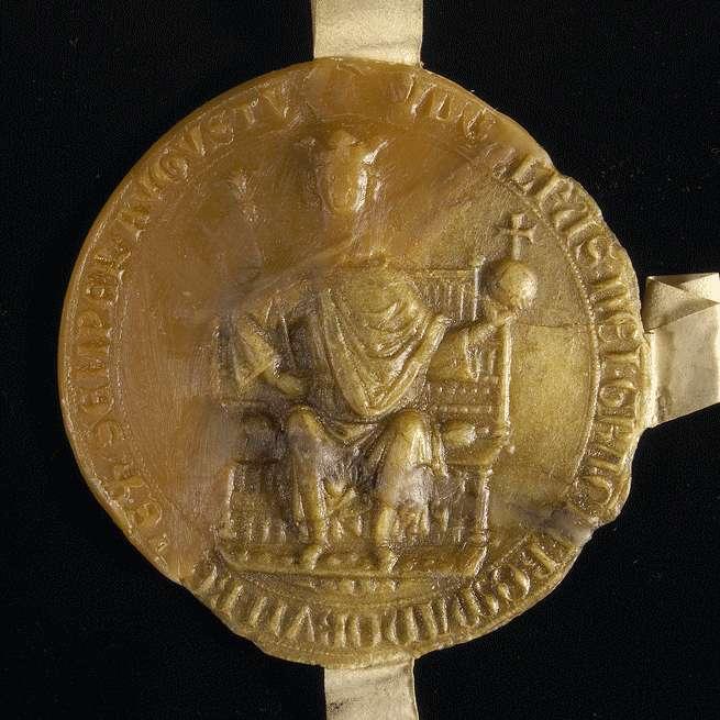 König Rudolf verpfändet dem Ammann Otto von Ulm den dortigen Eicheimer., Bild 3
