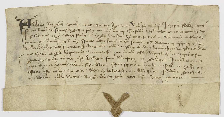 König Adolf von Nassau verleiht der Stadt Leutkirch die Freiheiten von Lindau., Bild 1
