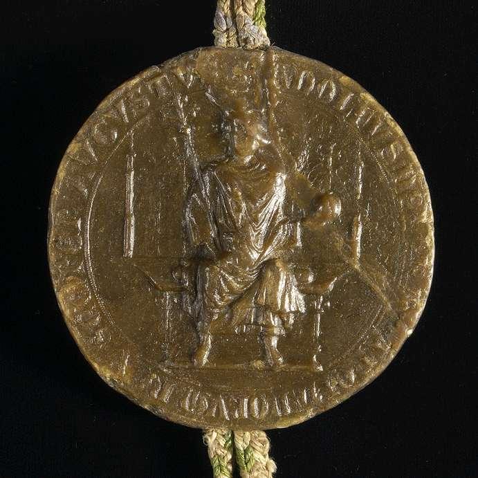 König Adolf von Nassau übernimmt die Vogtei des Klosters Steinheim und setzt seine und des Klosters Rechte fest., Bild 3