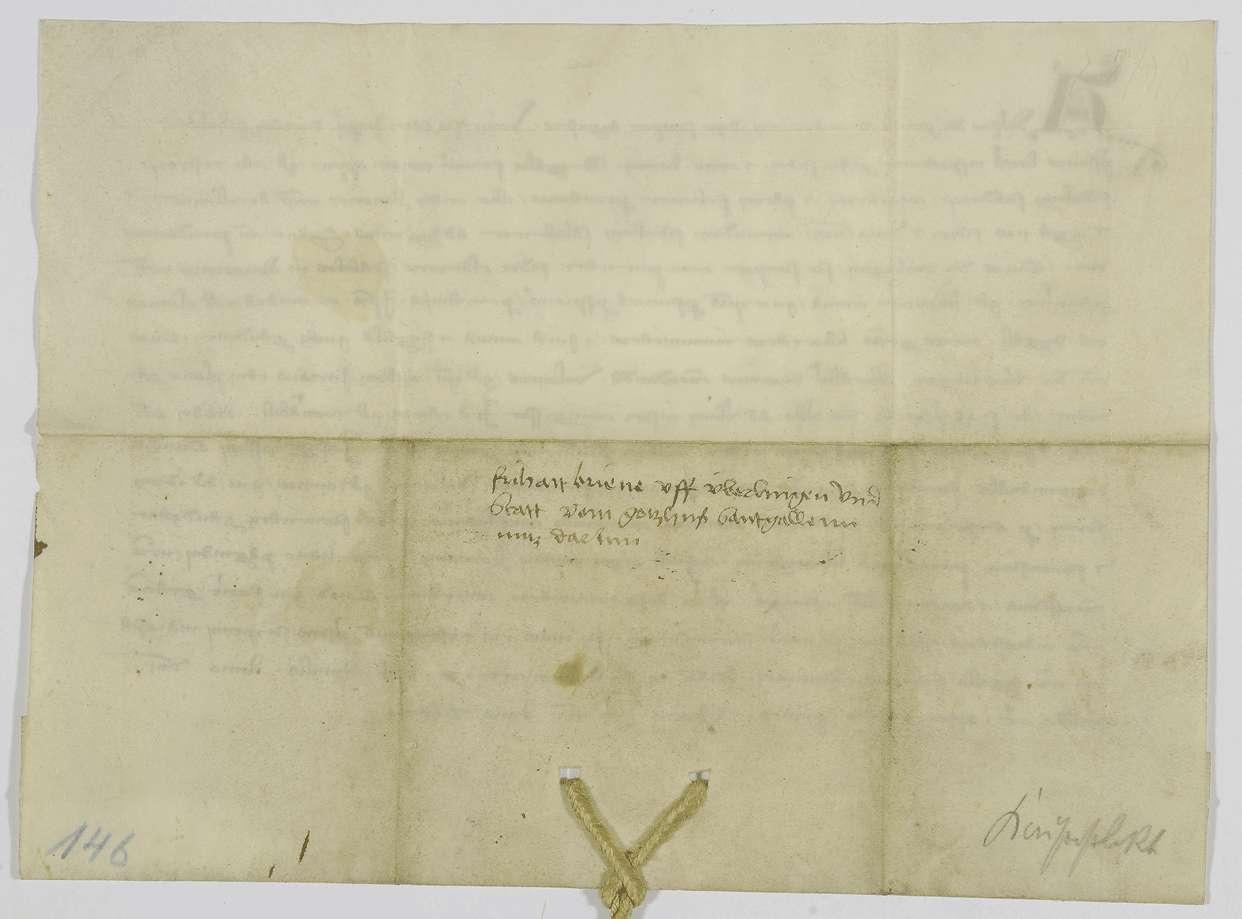 König Adolf von Nassau verleiht der Stadt Wangen Überlinger Recht, unter Wahrung der Besitzrechte von St. Gallen, und einen Wochenmarkt., Bild 2