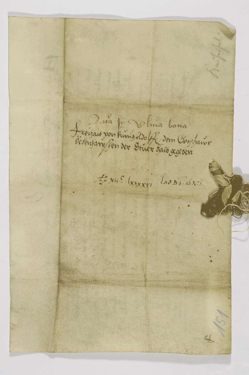 König Adolf von Nassau verleiht dem Kloster Bebenhausen das Bürgerrecht in Ulm mit voller Zoll- und Handelsfreiheit in dieser Stadt., Bild 2