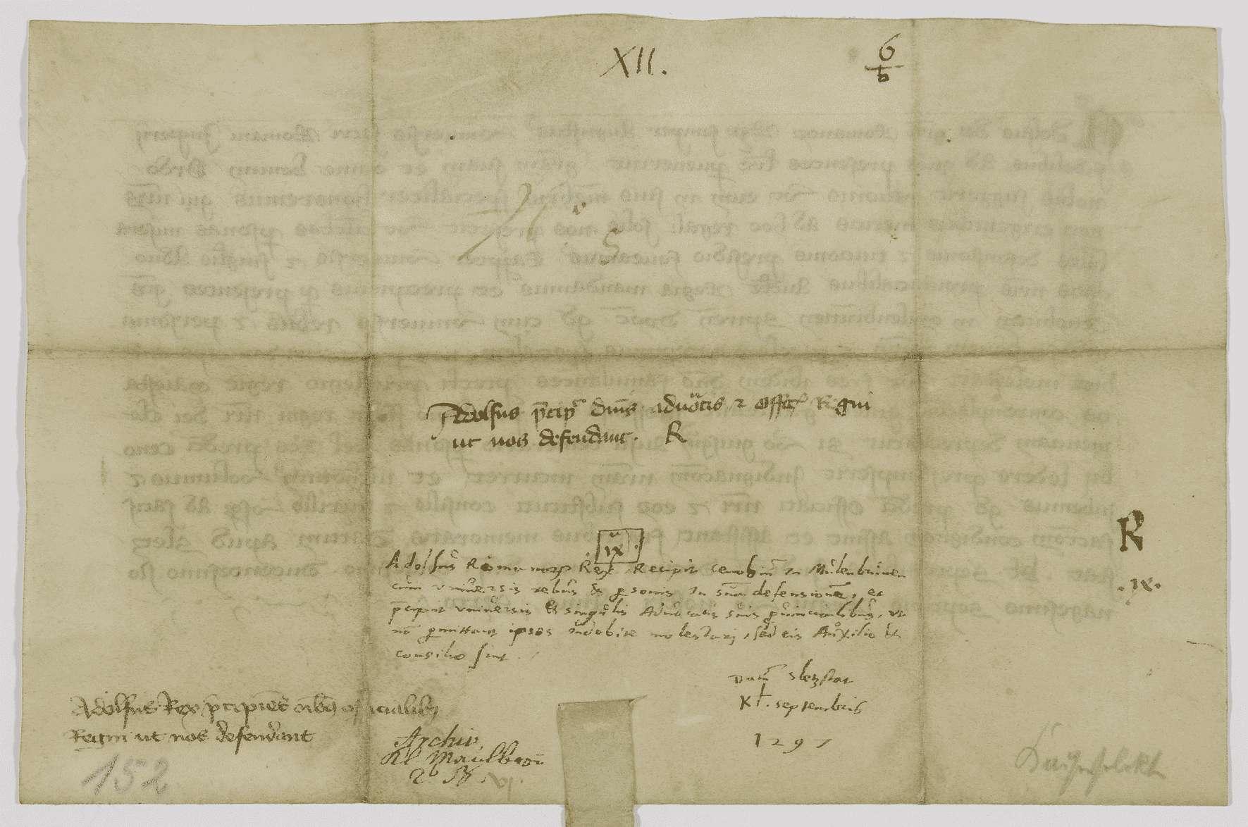 König Adolf von Nassau befiehlt seinen Landvögten, das Kloster Maulbronn zu schützen., Bild 2