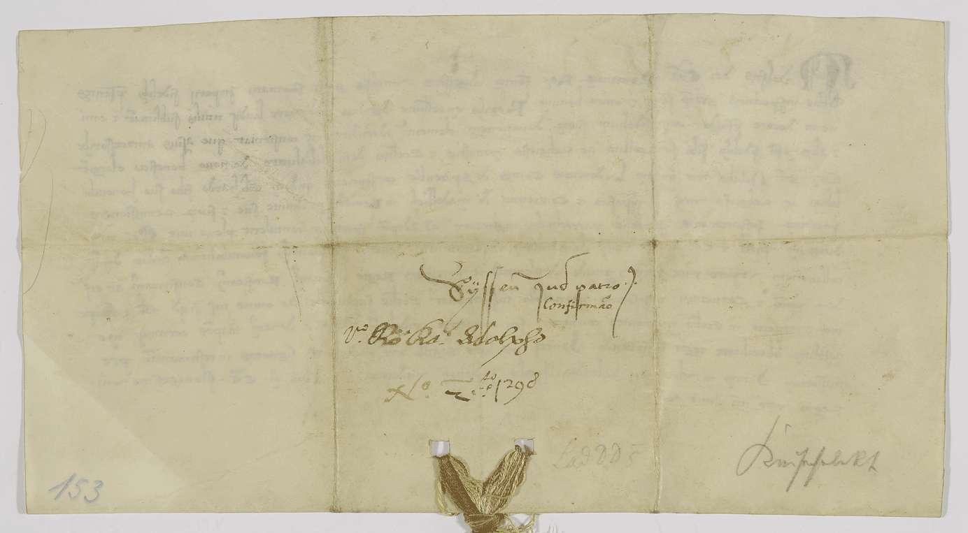 König Adolf von Nassau bestätigt dem Kloster Adelberg die Schenkung, die ihm weiland Graf Ludwig von Spitzenberg mit dem Patronatsrecht in [Groß-]Süßen gemacht hat., Bild 2