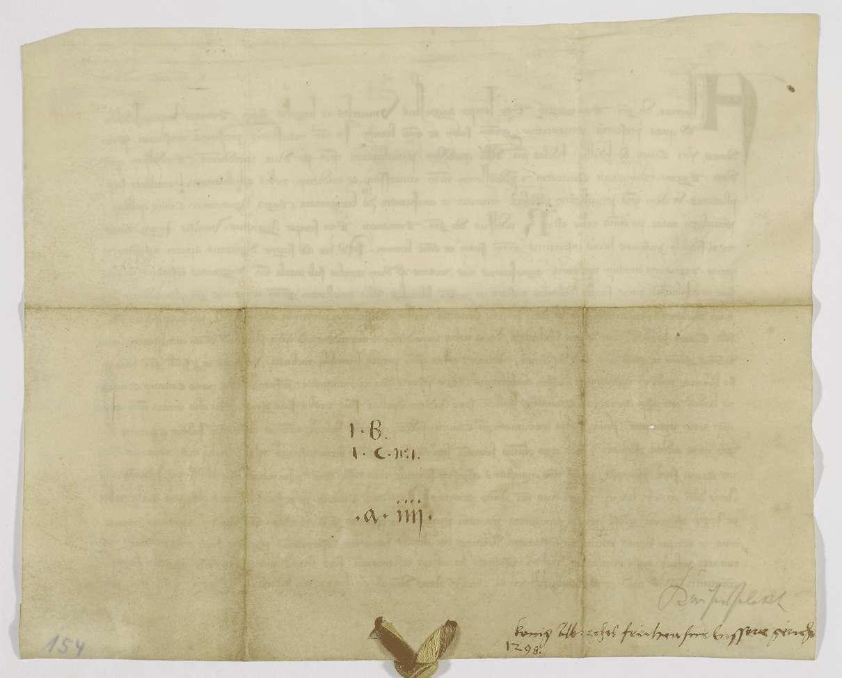 König Albrecht bestätigt der Stadt Hall das von König Rudolf ihr verliehene privilegium de non evocando., Bild 2