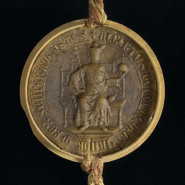 König Albrecht bestätigt der Stadt Hall das von König Rudolf ihr verliehene privilegium de non evocando., Bild 3