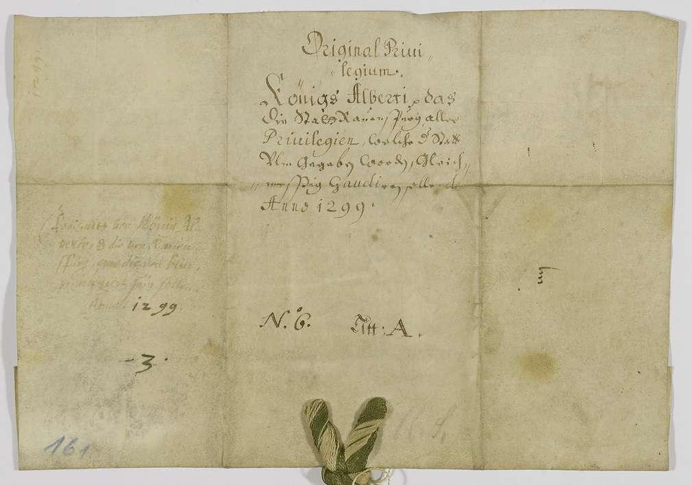 König Albrecht verleiht der Stadt Ravensburg auch die neuen Freiheiten, die er Ulm gegeben hat., Bild 2