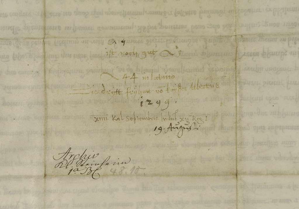 König Albrecht übernimmt die Vogtei des Klosters Steinheim und setzt seine und des Klosters Rechte fest., Bild 2