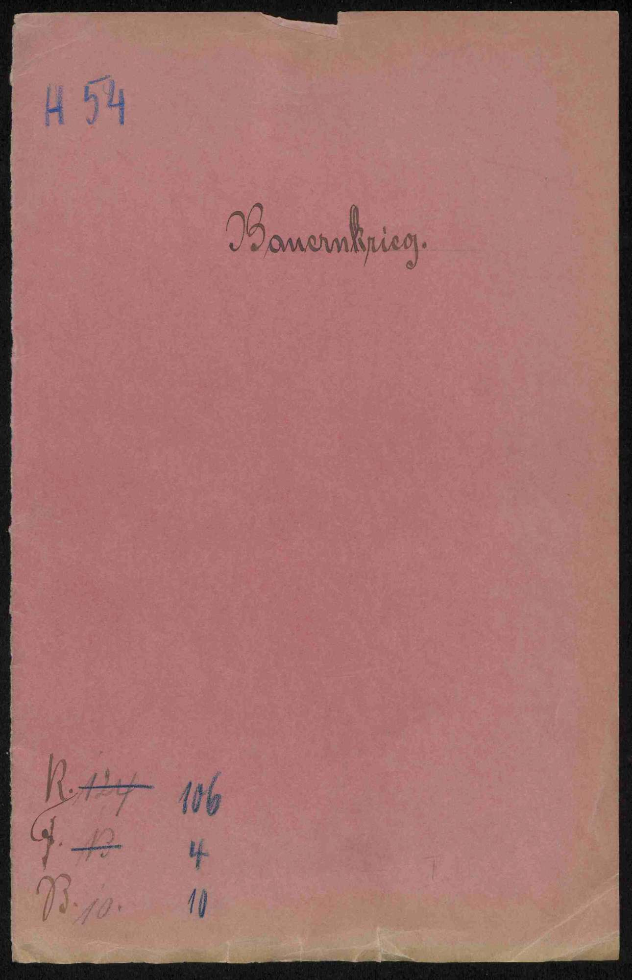 Schriftwechsel mit Kurfürst Ludwig von der Pfalz, Bild 1