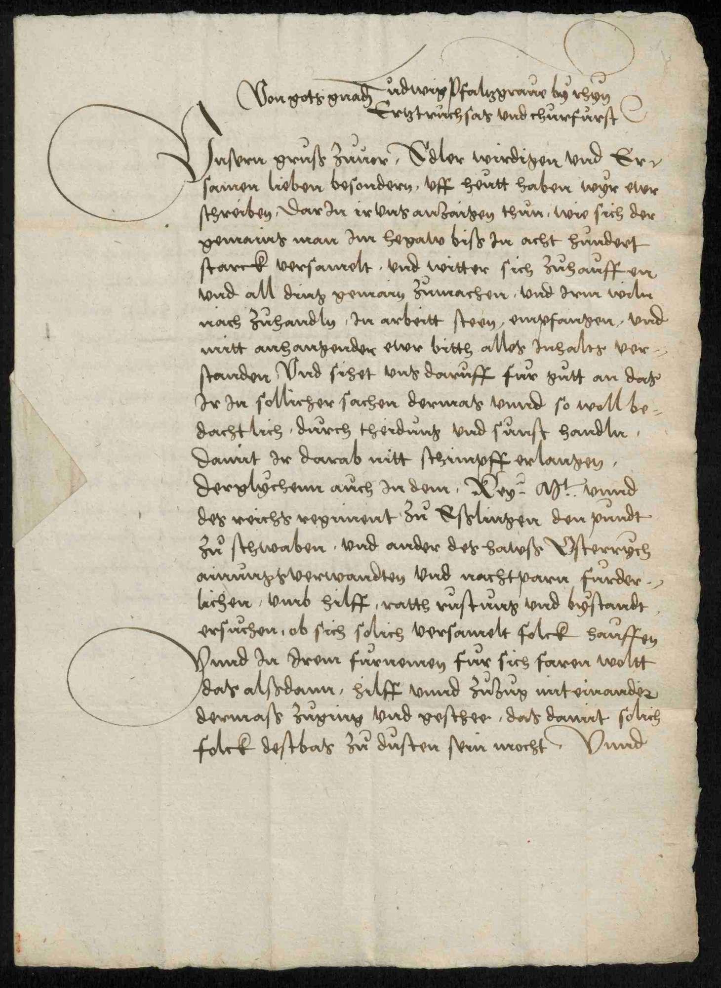 Schriftwechsel mit Kurfürst Ludwig von der Pfalz, Bild 3
