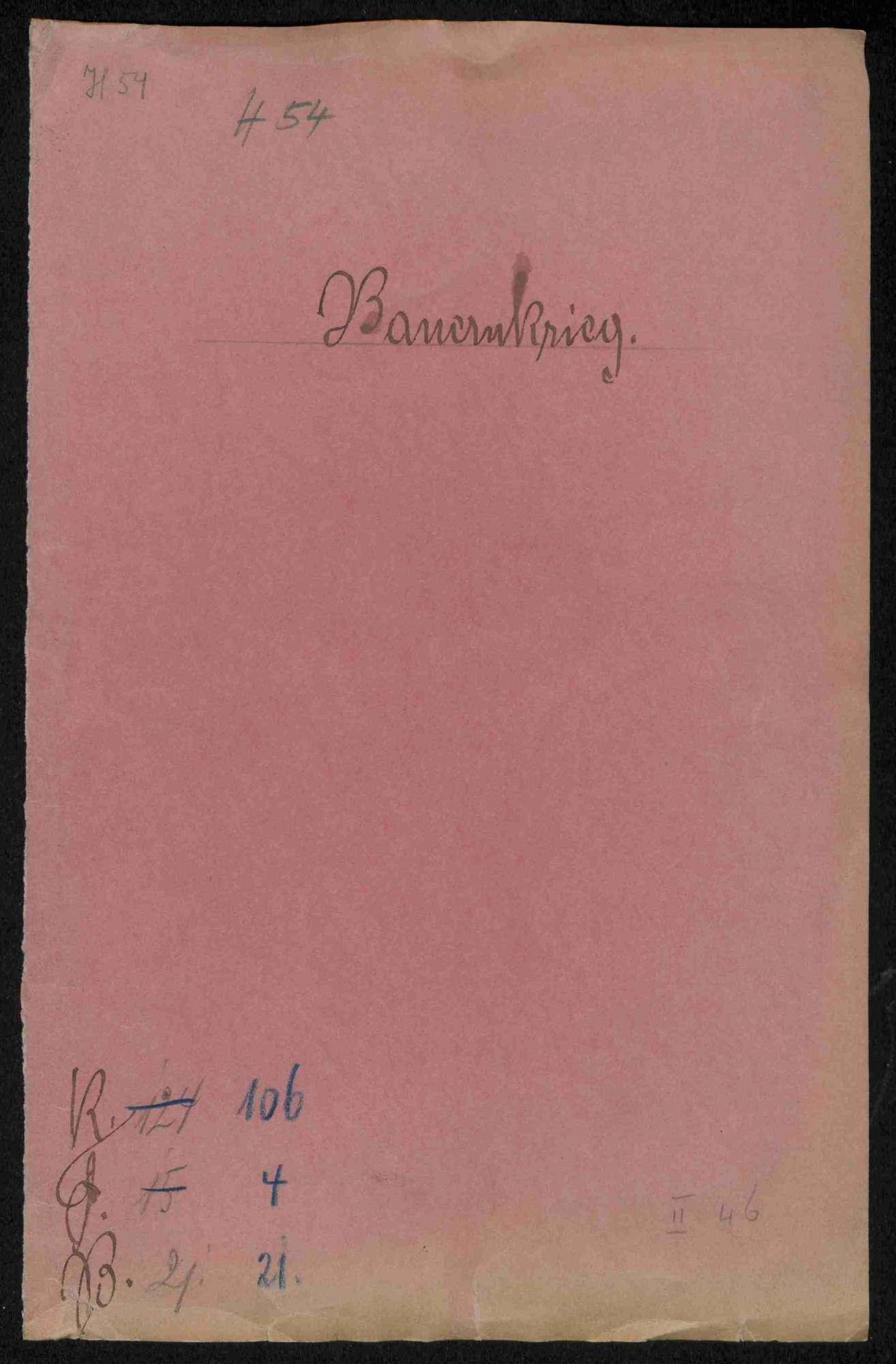 Prozessakten des Deutschmeisters Walther von Cronberg gegen die württembergischen Städte und Ämter, Bild 1