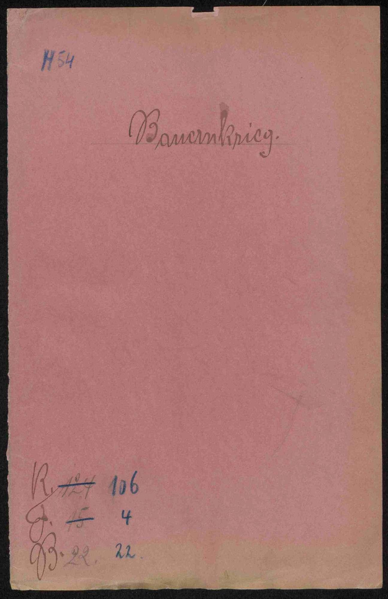 Ersatzforderungen des Deutschmeisters gegen Untertanen zu Hausen und der Komturen des Deutschen Ordens gegen die Gemeinde Großgartach, Bild 1